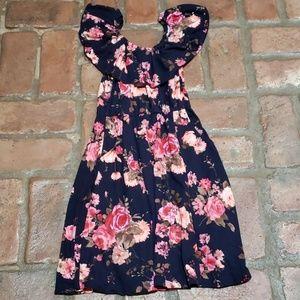 Justice for girls  floral dress size 8